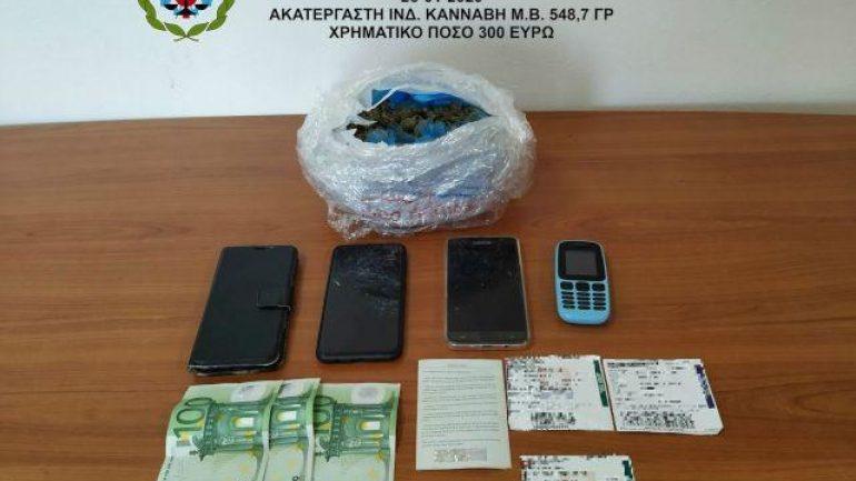 Σύλληψη τριών: Αποβιβάστηκαν στο Ηράκλειο με μισό κιλό χασίς