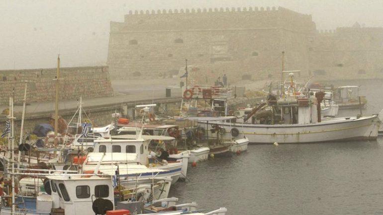 """Βροχές, σκόνη και ισχυρούς ανέμους """"φέρνει"""" στην Κρήτη η νέα κακοκαιρία"""