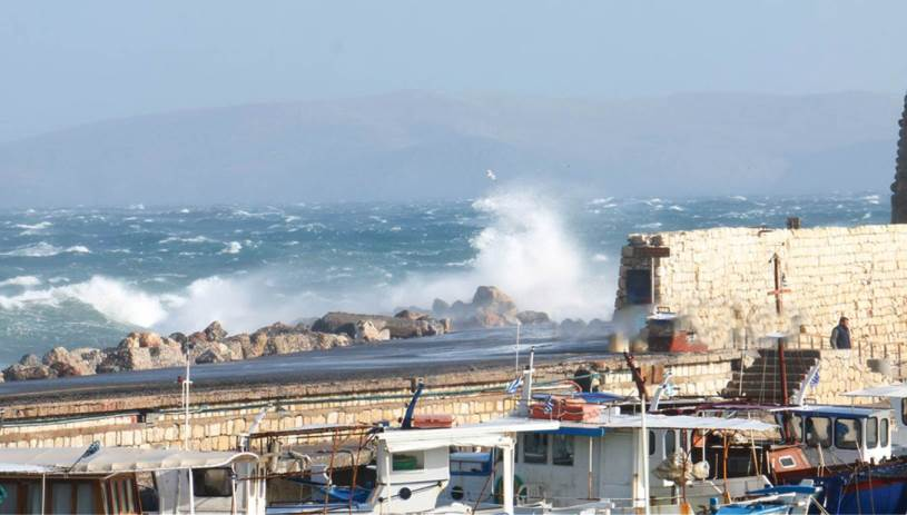 Καιρός: «Σαρώνουν» την Κρήτη παγωμένοι βοριάδες με ριπές 79 χιλιομέτρων την ώρα