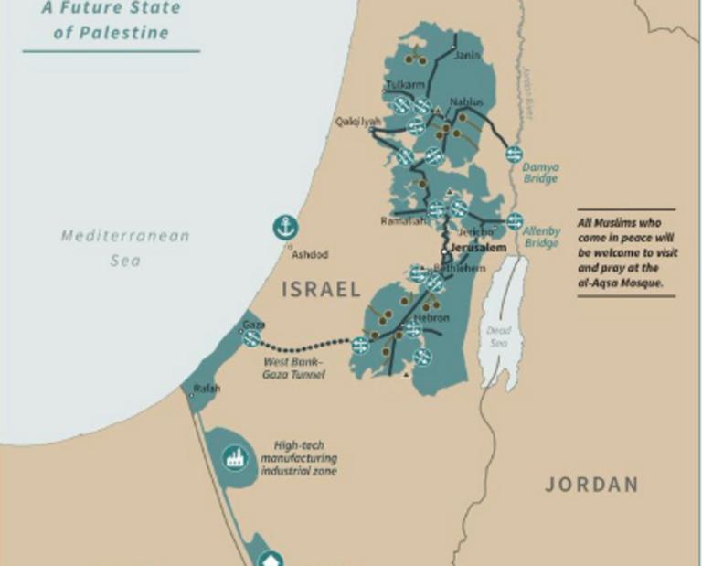 Μέση Ανατολή: Ο χάρτης Τραμπ για την ειρήνευση στην περιοχή