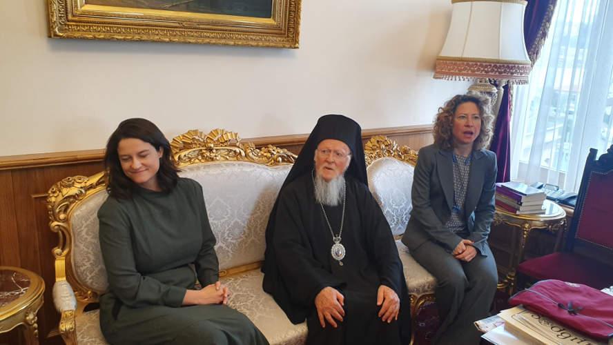 Η Νίκη Κεραμέως συναντήθηκε με τον Πατριάρχη Βαρθολομαίο στο Φανάρι [εικόνες & βίντεο]