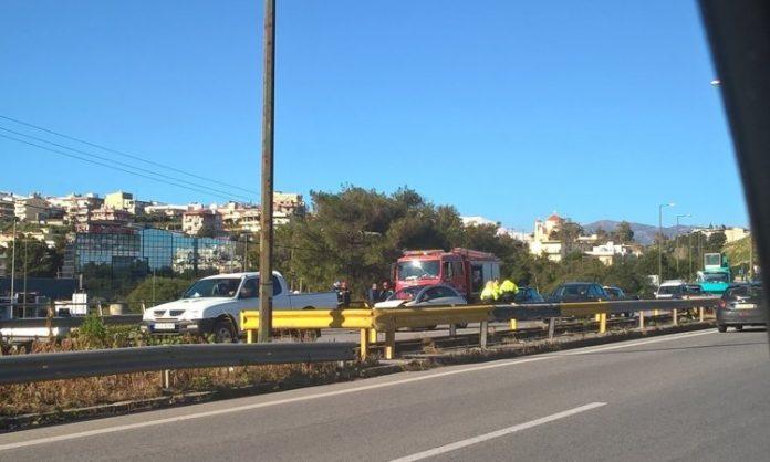 Κρήτη: Τροχαίο προκάλεσε κομφούζιο και έστειλε ένα άτομο στο νοσοκομείο