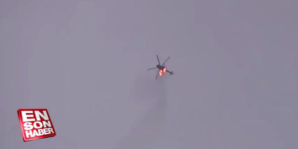 Συρία: Κατάρριψη στρατιωτικού ελικοπτέρου του Άσαντ πάνω από το Ιντλίμπ – Βίντεο ντοκουμέντο