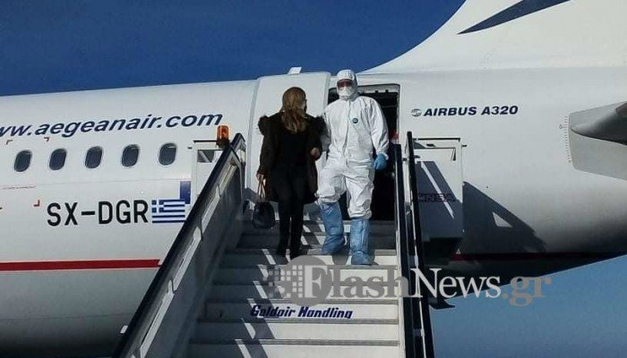 Άσκηση ετοιμότητας για ύποπτο κρούσμα κορωνοϊού σε αεροδρόμιο Ηρακλείου και ΠΑΓΝΗ (φωτο)