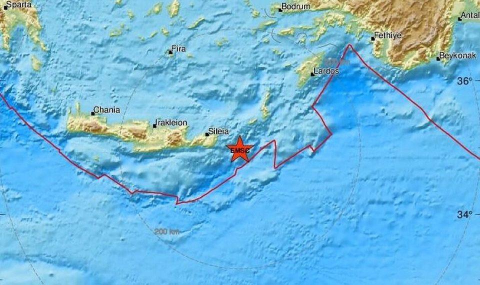 """Με τρεις σεισμούς """"ξύπνησε"""" σήμερα η Κρήτη"""