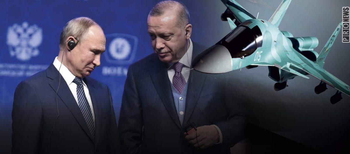 «Απάντηση» Πούτιν σε Ερντογάν: Η ρωσική Αεροπορία βομβάρδισε στόχους κοντά στα σύνορα με την Τουρκία