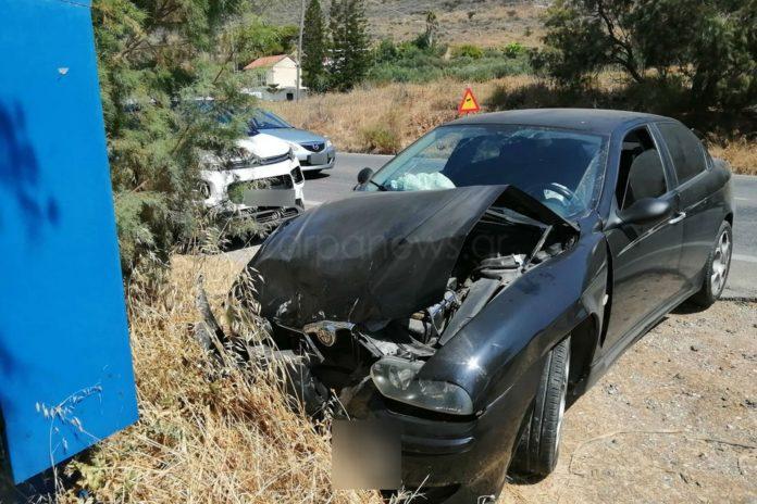 Κρήτη | Νέο σοβαρό τροχαίο στην Εθνική οδό Χανίων – Ηρακλείου