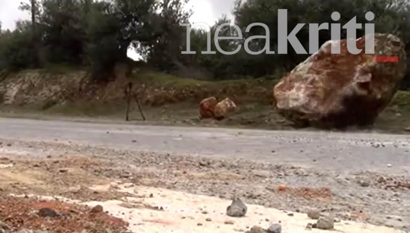 Τεράστιος βράχος αποκολλήθηκε σκορπώντας το φόβο και τον τρόμο