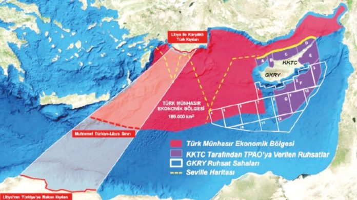 Στον ΟΗΕ ο χάρτης Άγκυρας – Τρίπολης! Ανοίγει ο δρόμος για έρευνες από την Τουρκία νότια της Κρήτης
