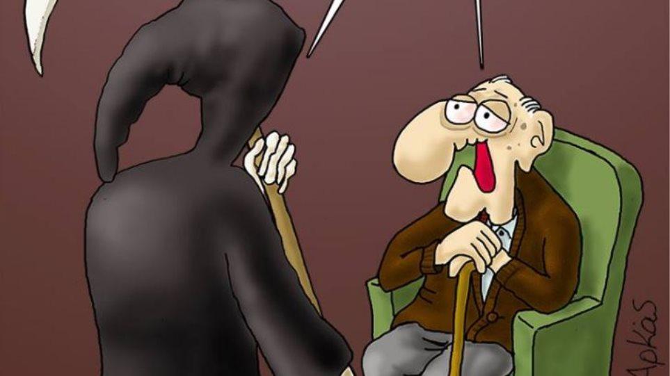 Κορωνοϊός: Το συγκλονιστικό σκίτσο του Αρκά, με τον Χάρο και τους γιατρούς