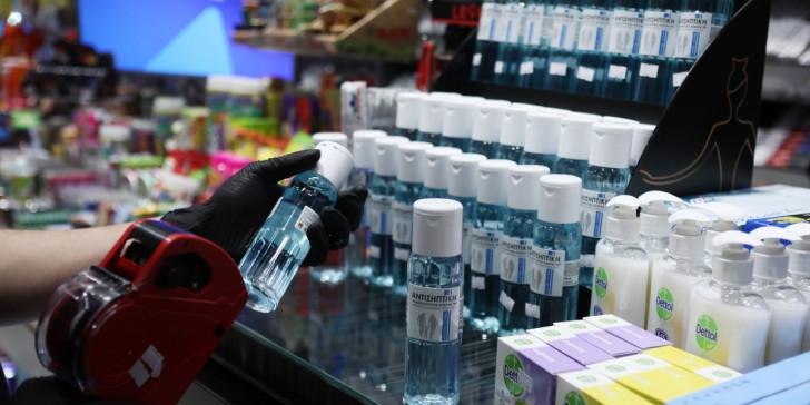 Κορονοϊός: Στα 2 το πλαφόν των αντισηπτικών ανά καταναλωτή