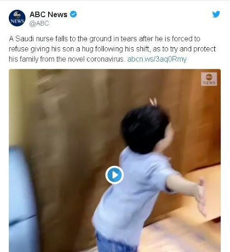 Ο νοσηλευτής που λύγισε επειδή δεν μπορούσε να πάρει αγκαλιά το γιο του