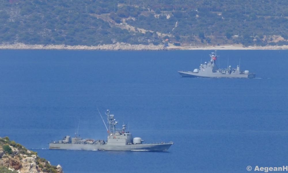 """Eλληνοτουρκική """"ναυμαχία"""" στο Καστελόριζο: H TΠΚ """"ΒΟΤΣΗΣ"""" έδιωξε τουρκικό πολεμικό από την περιοχή – Βίντεο-Εικόνες"""