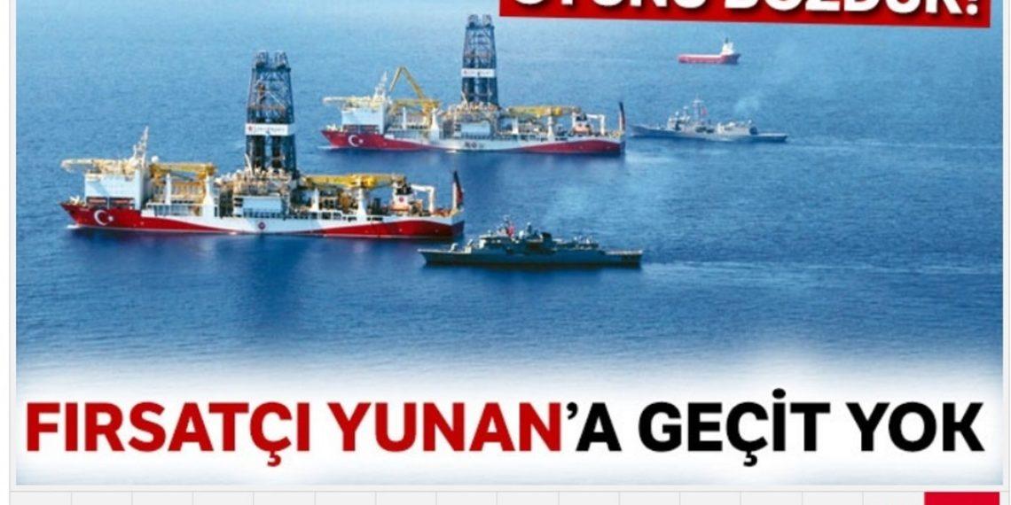 Εφημερίδα «Τουρκιγέ»: Δεν θα της περάσει της Ελλάδας – Προαναγγέλλει γεώτρηση στην Ανατολική Μεσόγειο