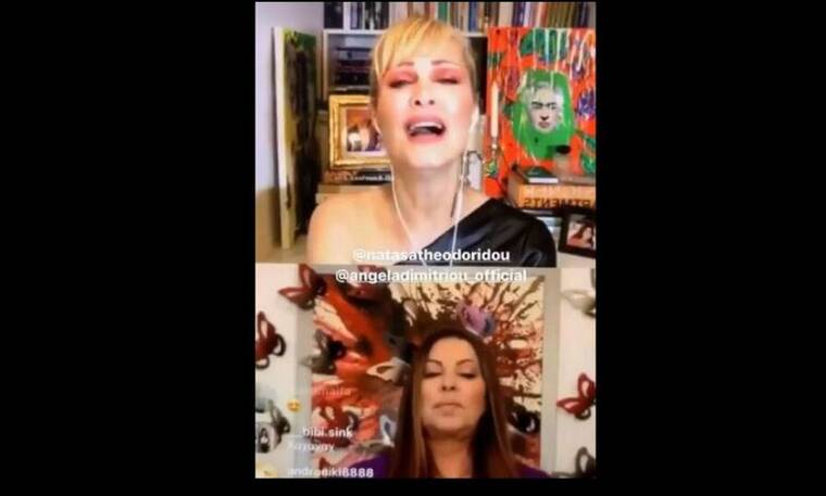 Άντζελα Δημητρίου – Νατάσα Θεοδωρίδου: Έριξαν το Instagram με το live τους! (Video)