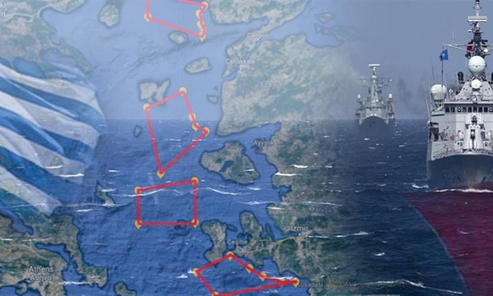 Σκηνικό σύγκρουσης: Η Άγκυρα με χάρτες-σοκ απαιτεί αφοπλισμό των νησιών – Βγαίνει στο Αιγαίο ο Ελληνικός Στόλος