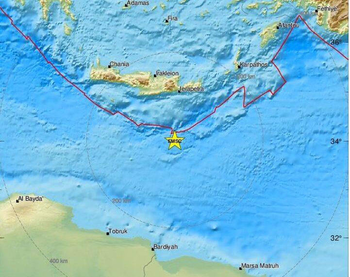 Σεισμός στην Κρήτη – Στα 4,5 Ρίχτερ η ένταση του