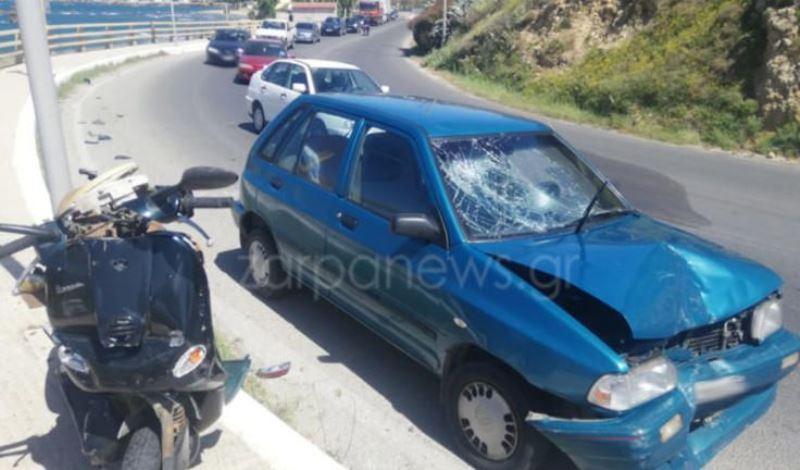 Κρήτη: Νέο τροχαίο ατύχημα – Στο κεφάλι τραυματίστηκε οδηγός δικύκλου