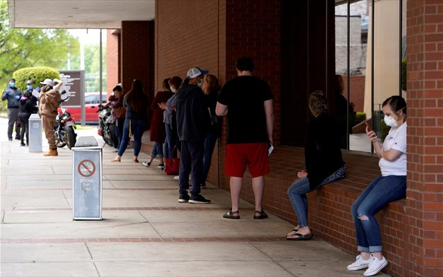 HΠΑ: Πάνω από 36 εκατ. Αμερικανοί σε επίδομα ανεργίας