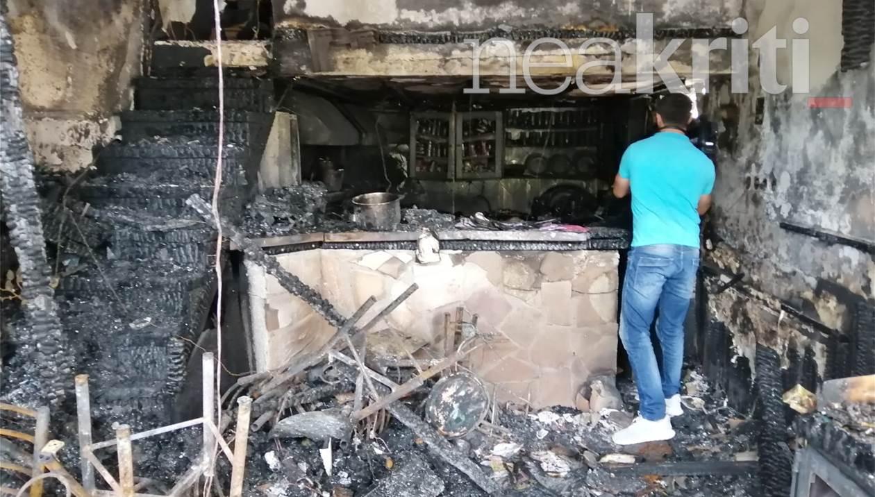 Πήγε να πάρει το κινητό του και είδε το μαγαζί του στις φλόγες – Τεράστια ζημιά για τον Κρητικό