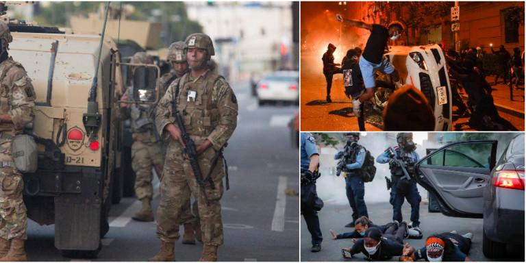 Δολοφονία Τζόρτζ Φλόιντ: Σκηνικό εμφυλίου πολέμου στις ΗΠΑ -Η Εθνοφρουρά στους δρόμους, απαγόρευση κυκλοφορίας