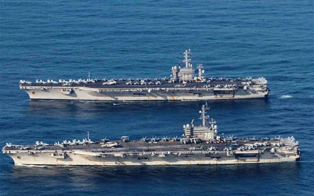 «Φουντώνει» η κόντρα ΗΠΑ- Κίνας: Αμερικανικά αεροπλανοφόρα στη Νότια Σινική Θάλασσα