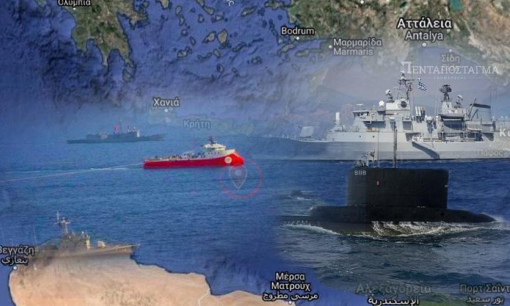 Συγκέντρωση τουρκικών πολεμικών πλοίων στο Ακσάζ: Σε εγρήγορση το Ελληνικό ΠΝ