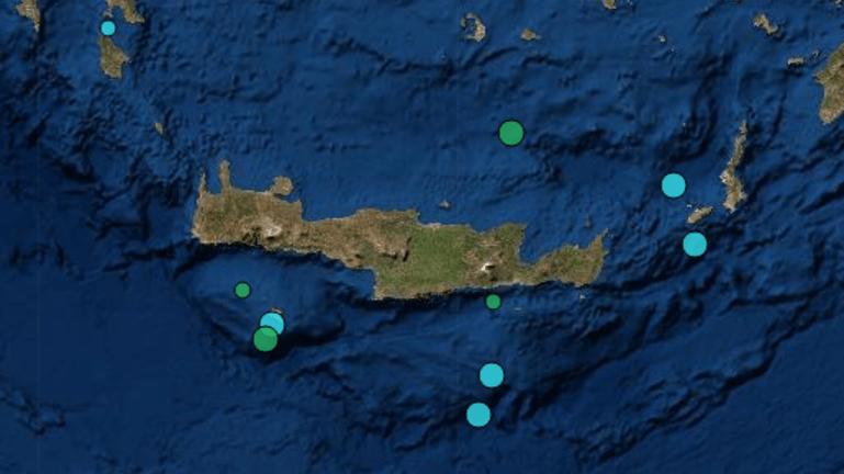 Σεισμική δόνηση τα ξημερώματα στην Κρήτη