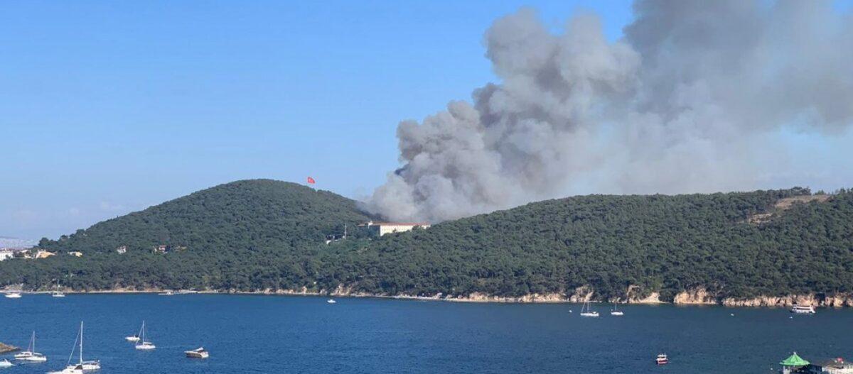«Περίεργη» η πυρκαγιά κοντά στην Θεολογική Σχολή της Χάλκης: Συνέλαβαν τρεις εμπρηστές