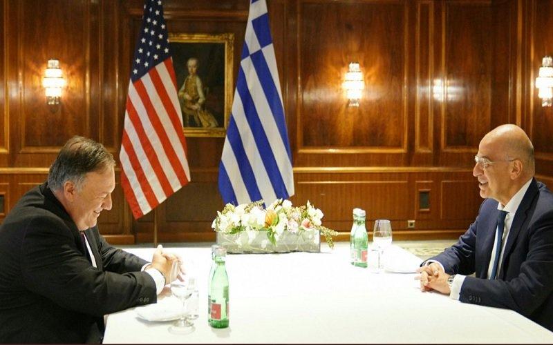 Συνάντηση Δένδια-Πομπέο: Δεν θα υπάρξει σύγκρουση εάν όλοι ενεργήσουν σύμφωνα με το Διεθνές Δίκαιο