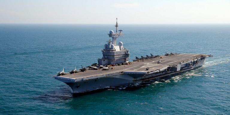 Η Γαλλία «δείχνει τα δόντια» της στον Ερντογάν -Το αεροπλανοφόρο «Charles De Gaulle» στην Ανατολική Μεσόγειο