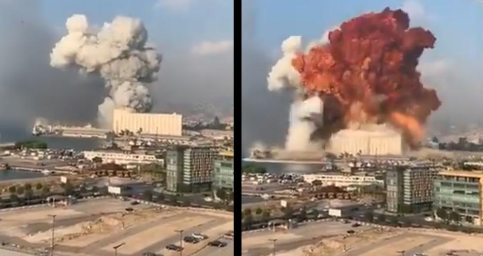 Ισχυρή έκρηξη στο λιμάνι της Βηρυτού