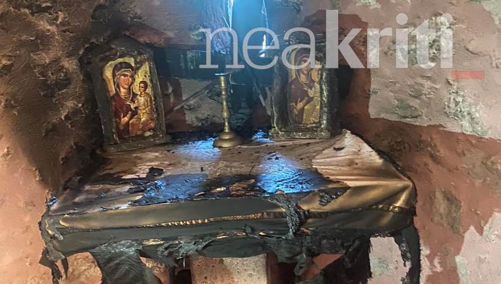 Σοκάρει ο βανδαλισμός σε εκκλησάκι της Παναγίας της Ρόκας στον Προφήτη Ηλία