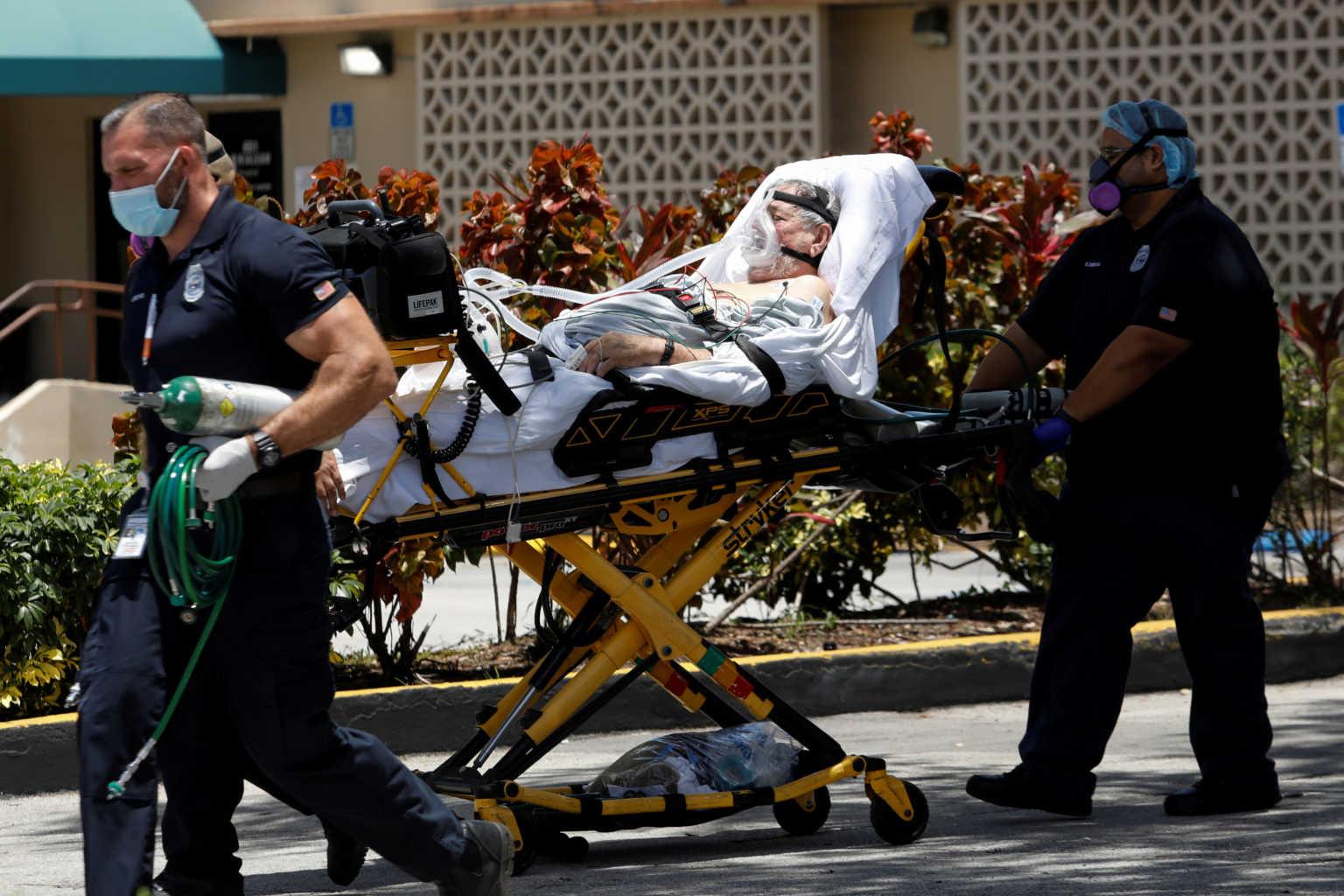 """ΗΠΑ: """"Πάγωμα""""! Πάνω από 2.000 νεκροί από κορονοϊό το τελευταίο 24ωρο – Ρεκόρ τριμήνου"""