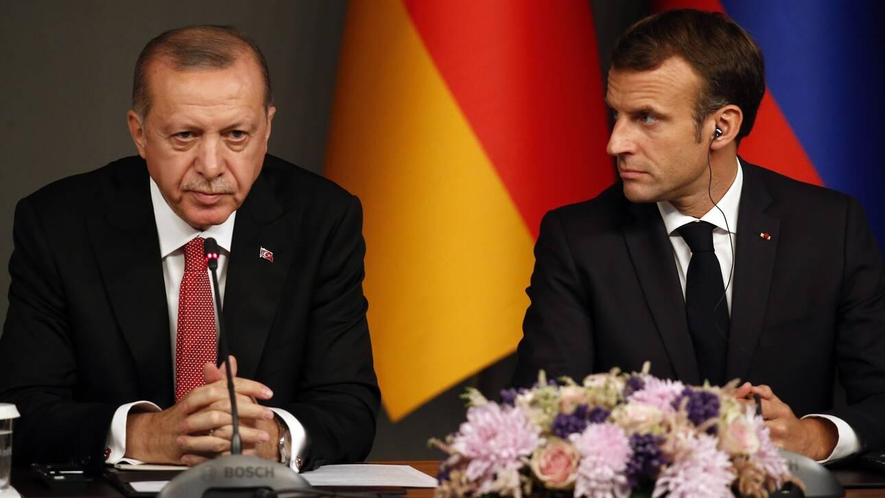 Μακρόν σε Ερντογάν: Αποφύγετε οποιαδήποτε νέα μονομερή ενέργεια πρόκλησης εντάσεων