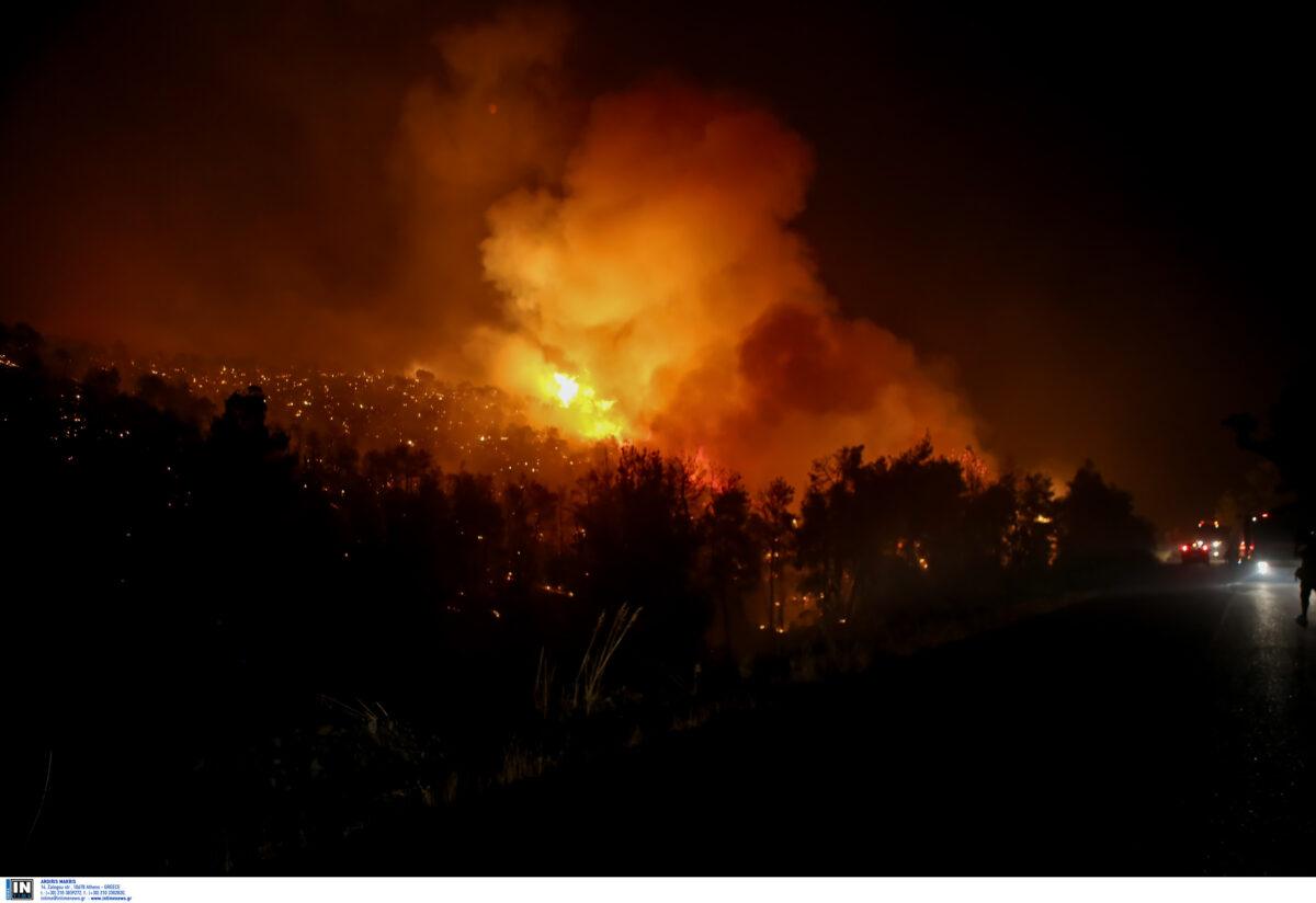 Φωτιά στον ΧΥΤΑ Φυλής – Μήνυμα από το 112 στους κατοίκους της περιοχής