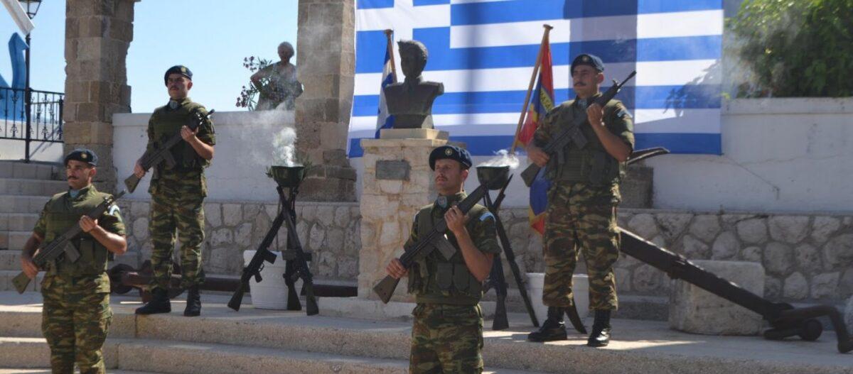«Σείστηκε» το Καστελόριζο από τον Εθνικό Ύμνο των Ελλήνων στρατιωτών (βίντεο)