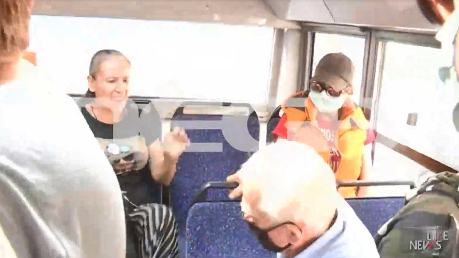 Μέρες άγριες! Στα χέρια ηλικιωμένος και γυναίκα στο λεωφορείο για μη χρήση μάσκας
