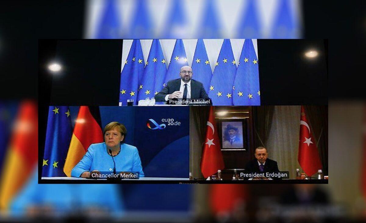 Ερντογάν σε Μέρκελ και Μισέλ: Είμαστε έτοιμοι για διαπραγματεύσεις αλλά εξαρτάται από την Ελλάδα