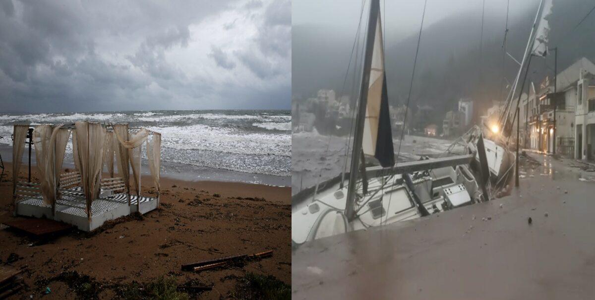 Ιανός: Όλο το καταστροφικό του πέρασμα από Κεφαλονιά, Ιθάκη, Λευκάδα και Ζάκυνθο (pics, video)