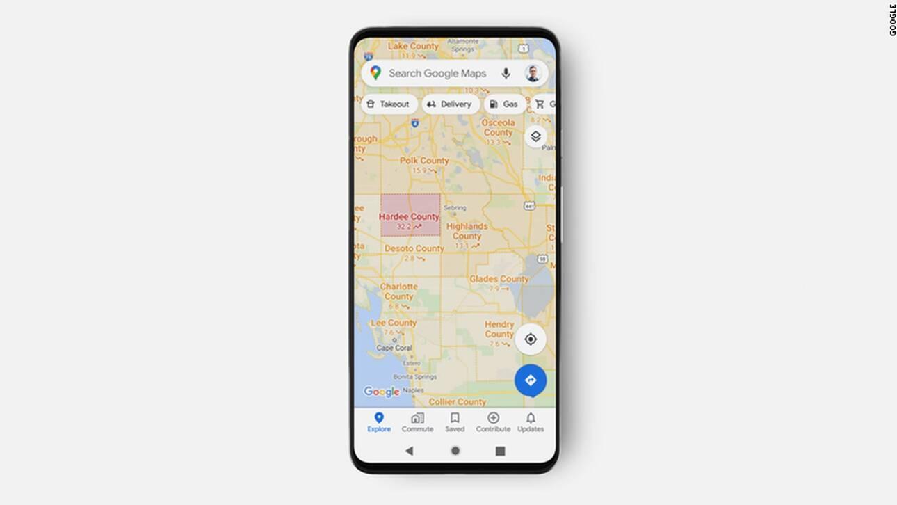 Google Maps: Νέα λειτουργία που εμφανίζει τα κρούσματα κορωνοϊού ανά περιοχή