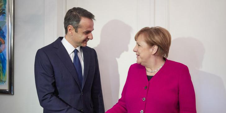Τηλεφωνική επικοινωνία με την Άνγκελα Μέρκελ είχε ο πρωθυπουργός Κυριάκος Μητσοτάκης.