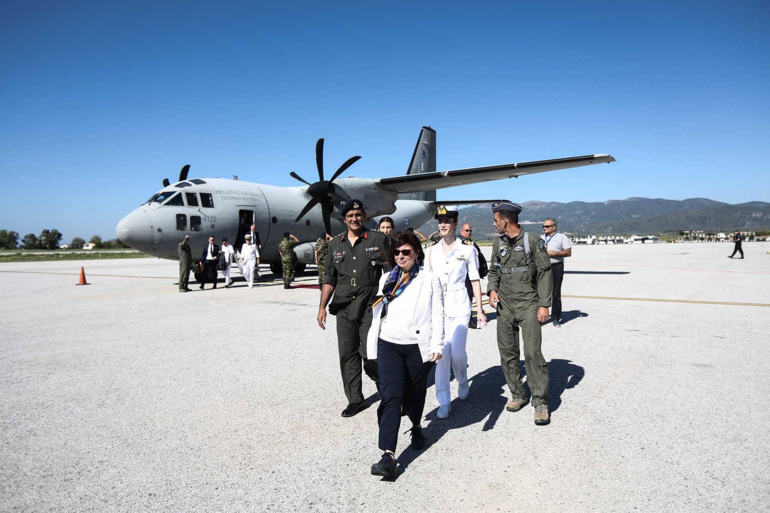 Στο Καστελόριζο η Πρόεδρος της Δημοκρατίας, Κατερίνα Σακελλαροπούλου