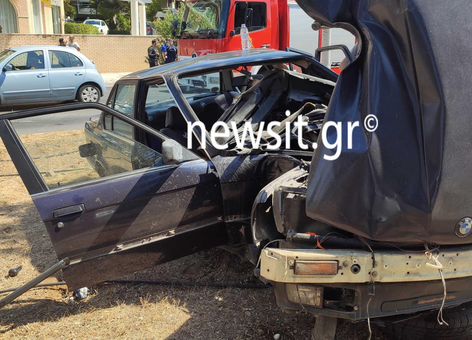 Σοκαριστικό τροχαίο στη Γλυφάδα – Ένας τραυματίας (pics)