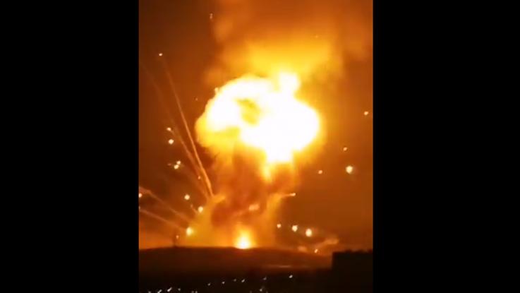 Ιορδανία: Κόλαση εκρήξεων σε αποθήκη όπλων από ηλεκτρικό βραχυκύκλωμα (Photos/Videos)