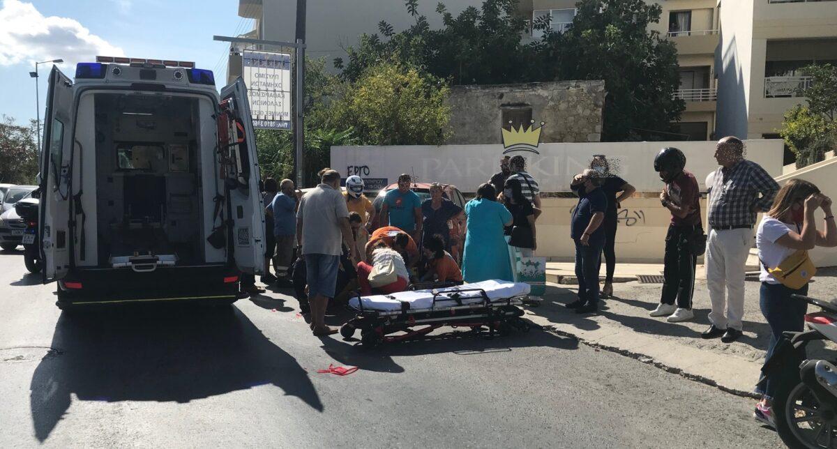 """Ατύχημα στο Ηράκλειο την έκαναν """"σαντουϊτς"""