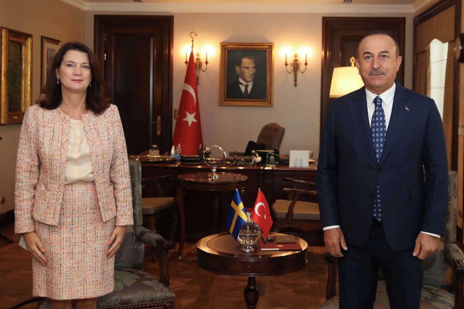 Απίστευτος Τσαβούσογλου! Τα έβαλε με την Σουηδή υπουργό Εξωτερικών για Κύπρο, Ελλάδα και Συρία!