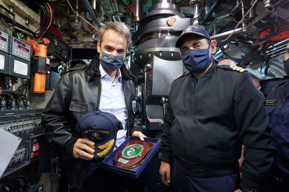 Μητσοτάκης στο υποβρύχιο «Κατσώνης»: Είναι οι αόρατες και αθόρυβες ασπίδες για τα κυριαρχικά μας δικαιώματα