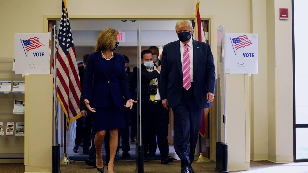 Εκλογές ΗΠΑ: Ο Τραμπ άσκησε το εκλογικό του δικαίωμα – «Ήταν μια πολύ ασφαλής ψήφος»