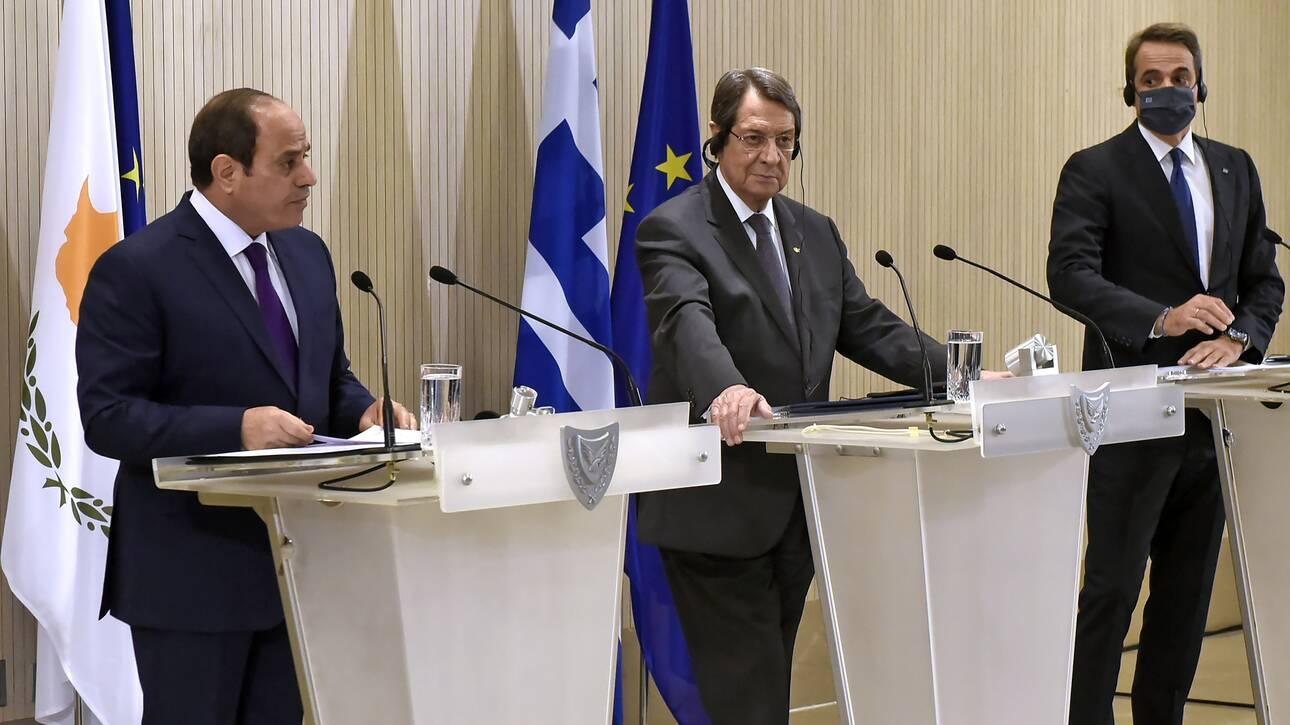 Οργή Τουρκίας για την τριμερή Κύπρου-Ελλάδας- Αιγύπτου: Αβάσιμοι οι ισχυρισμοί τους